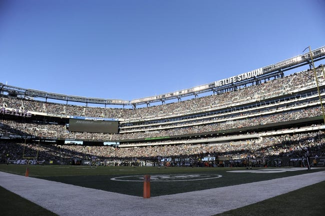 Nov 3, 2013; East Rutherford, NJ, USA; A general view of game action between the New York Jets and New Orleans Saints during the second half at MetLife Stadium. The Jets won the game 26-20. Mandatory Credit: Joe Camporeale-USA TODAY Sports