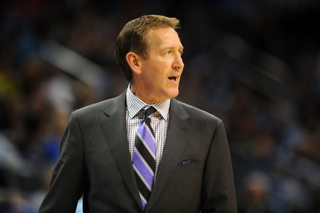 Nov 3, 2013; Oklahoma City, OK, USA; Phoenix Suns head coach Jeff Hornacek reacts to a play in action against the Oklahoma City Thunder during the third quarter at Chesapeake Energy Arena. Mandatory Credit: Mark D. Smith-USA TODAY Sports