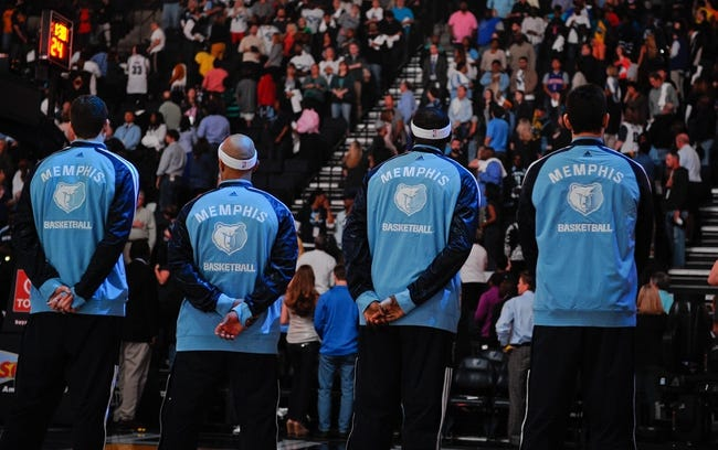 Nov 1, 2013; Memphis, TN, USA; A group of Memphis Grizzlies before the game against Detroit Pistons at FedExForum. Memphis Grizzlies beat the Detroit Pistons 111 - 108. Mandatory Credit: Justin Ford-USA TODAY Sports