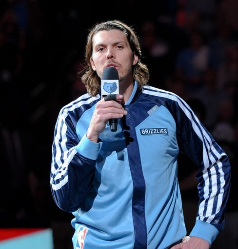 Nov 1, 2013; Memphis, TN, USA; Memphis Grizzlies small forward Mike Miller (13) before the game against Detroit Pistons at FedExForum. Memphis Grizzlies beat the Detroit Pistons 111 - 108. Mandatory Credit: Justin Ford-USA TODAY Sports