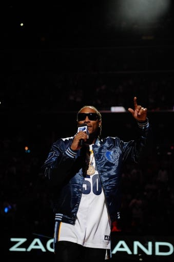Nov 1, 2013; Memphis, TN, USA; Recording artist Future performs before the game between the Memphis Grizzlies and the Detroit Pistons at FedExForum. Memphis Grizzlies beat the Detroit Pistons 111 - 108. Mandatory Credit: Justin Ford-USA TODAY Sports