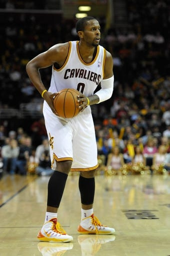 Nov 4, 2013; Cleveland, OH, USA; Cleveland Cavaliers shooting guard C.J. Miles (0) during a game against the Minnesota Timberwolves at Quicken Loans Arena. Cleveland won 93-92. Mandatory Credit: David Richard-USA TODAY Sports
