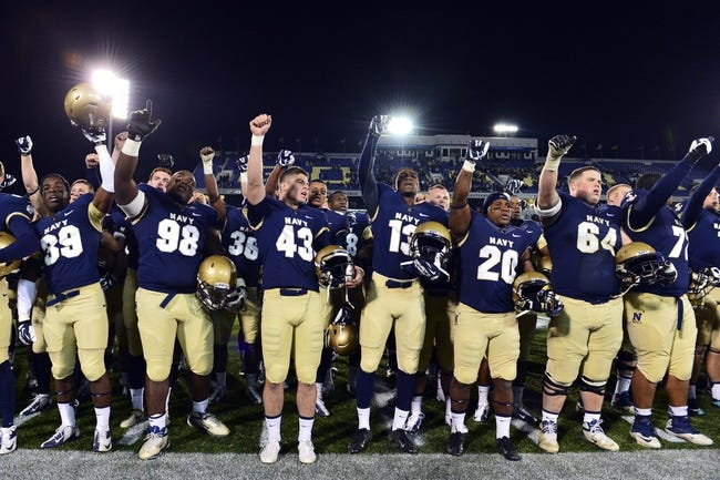 """Nov 9, 2013; Annapolis, MD, USA; The Navy Midshipmen yell """"Beat Army"""" after the playing of the school song 'Blue and Gold"""" at the completion of the Hawaii Warriors vs Navy Midshipmen game at Navy Marine Corps Memorial Stadium. Navy defeated Hawaii 42-38 Mandatory Credit: Tommy Gilligan-USA TODAY Sports"""