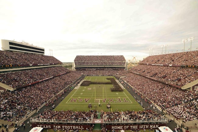 Nov 9, 2013; College Station, TX, USA; A general view of Kyle Field during the halftime of the game between the Texas A&M Aggies and the Mississippi State Bulldogs. Texas A&M won 51-41. Mandatory Credit: Thomas Campbell-USA TODAY Sports