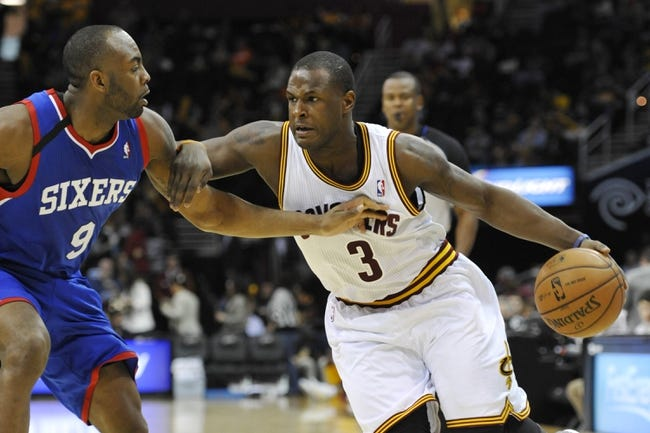 Nov 9, 2013; Cleveland, OH, USA; Cleveland Cavaliers shooting guard Dion Waiters (3) drives against Philadelphia 76ers shooting guard James Anderson (9) in the third quarter at Quicken Loans Arena. Mandatory Credit: David Richard-USA TODAY Sports