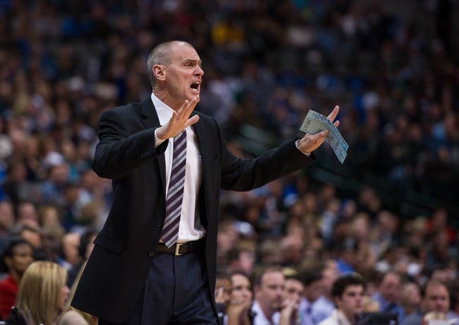 Nov 2, 2013; Dallas, TX, USA; Dallas Mavericks head coach Rick Carlisle yells to his team during the game against the Memphis Grizzlies at the American Airlines Center. The Mavericks defeated the Grizzlies 111-99. Mandatory Credit: Jerome Miron-USA TODAY Sports