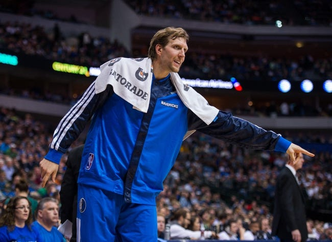Nov 2, 2013; Dallas, TX, USA; Dallas Mavericks power forward Dirk Nowitzki (41) motions to the referees during the game against the Memphis Grizzlies at the American Airlines Center. The Mavericks defeated the Grizzlies 111-99. Mandatory Credit: Jerome Miron-USA TODAY Sports