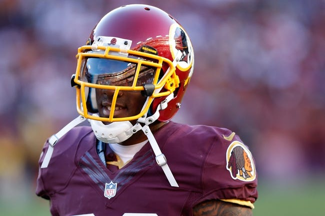 Nov 3, 2013; Landover, MD, USA; Washington Redskins cornerback DeAngelo Hall (23) stands on the field against the San Diego Chargers at FedEx Field. Mandatory Credit: Geoff Burke-USA TODAY Sports