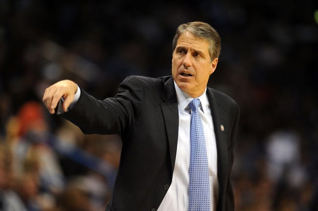Nov 10, 2013; Oklahoma City, OK, USA; Washington Wizards head coach Randy Wittman reacts to a play in action against the Oklahoma City Thunder at Chesapeake Energy Arena. Mandatory Credit: Mark D. Smith-USA TODAY Sports
