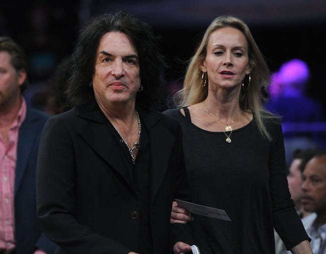 Nov 10, 2013; Los Angeles, CA, USA; Paul Stanley of the rock band Kiss arrives for the game between the Los Angeles Lakers and the Minnesota Timberwolves at Staples Center. Timberwolves won 113-90. Mandatory Credit: Jayne Kamin-Oncea-USA TODAY Sports