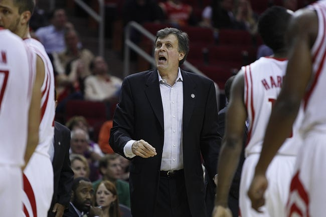 Nov 11, 2013; Houston, TX, USA; Houston Rockets head coach Kevin McHale stands on the sideline during the fourth quarter against the Toronto Raptors at Toyota Center. The Rockets won 110-104. Mandatory Credit: Andrew Richardson-USA TODAY Sports