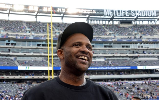 Nov 10, 2013; East Rutherford, NJ, USA; C.C. Sabathia attends the NFL game between the Oakland Raiders and the New York Giants at MetLife Stadium. Mandatory Credit: Kirby Lee-USA TODAY Sports