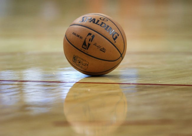 Nov 9, 2013; Houston, TX, USA; General view of a basketball during a game between the Houston Rockets and the Los Angeles Clippers at Toyota Center. Mandatory Credit: Troy Taormina-USA TODAY Sports