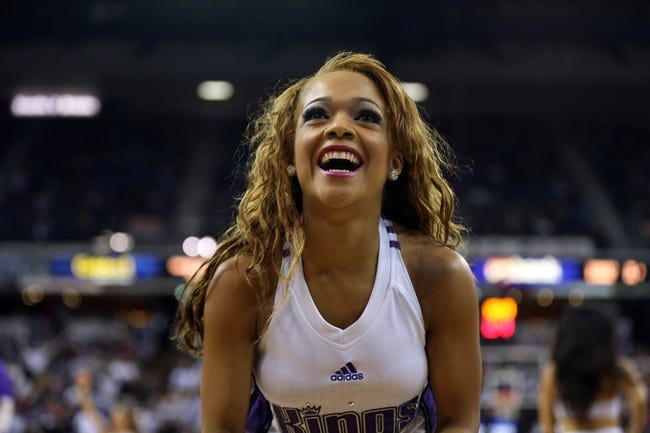 Nov 13, 2013; Sacramento, CA, USA; Sacramento Kings dancer during a timeout against the Brooklyn Nets during the fourth quarter at Sleep Train Arena. The Sacramento Kings defeated the Brooklyn Nets 107-86. Mandatory Credit: Kelley L Cox-USA TODAY Sports