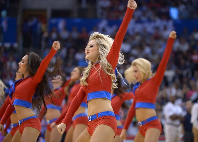 Nov 13, 2013; Los Angeles, CA, USA; Los Angeles Clippers spirit cheerleaders perform during the game against the Oklahoma City Thunder at Staples Center. Mandatory Credit: Kirby Lee-USA TODAY Sports