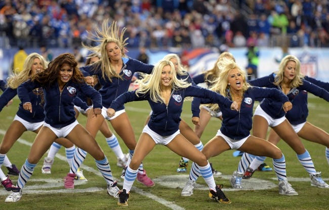 Nov 14, 2013; Nashville, TN, USA; Tennessee Titans cheerleaders perform during the game against the Indianapolis Colts at LP Field. Mandatory Credit: Kirby Lee-USA TODAY Sports
