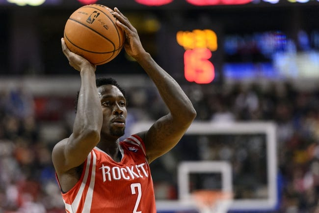 Nov 13, 2013; Philadelphia, PA, USA; Houston Rockets guard Patrick Beverley (2) looks to pass during the second quarter against the Philadelphia 76ers at Wells Fargo Center. The Sixers defeated the Rockets 123-117. Mandatory Credit: Howard Smith-USA TODAY Sports