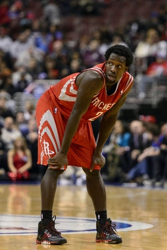 Nov 13, 2013; Philadelphia, PA, USA; Houston Rockets guard Patrick Beverley (2) during the fourth quarter against the Philadelphia 76ers at Wells Fargo Center. The Sixers defeated the Rockets 123-117. Mandatory Credit: Howard Smith-USA TODAY Sports