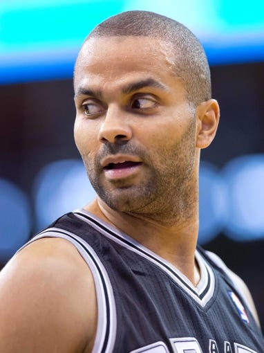 Nov 15, 2013; Salt Lake City, UT, USA; San Antonio Spurs point guard Tony Parker (9) during the first half against the Utah Jazz at EnergySolutions Arena. Mandatory Credit: Russ Isabella-USA TODAY Sports