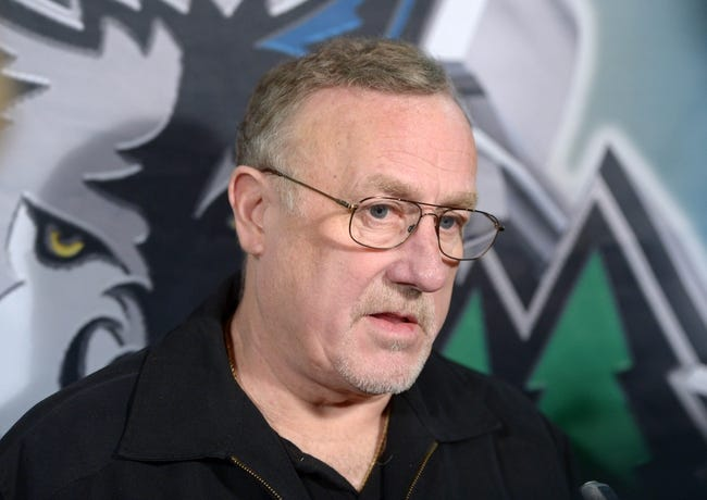 Nov 11, 2013; Los Angeles, CA, USA; Minnesota Timberwolves coach Rick Adelman at press conference before the game against the Los Angeles Clippers at Staples Center. Mandatory Credit: Kirby Lee-USA TODAY Sports