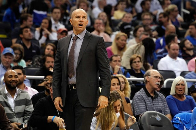 Nov 3, 2013; Orlando, FL, USA; Brooklyn Nets head coach Jason Kidd against the Orlando Magic during the second half at Amway Center. Mandatory Credit: Kim Klement-USA TODAY Sports