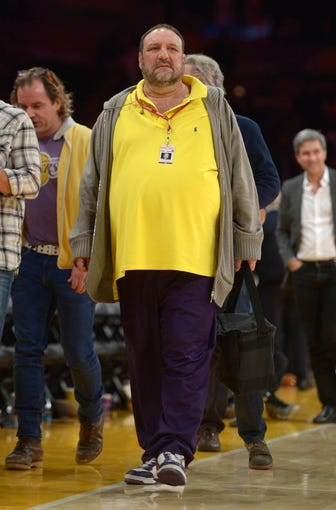 Nov 12, 2013; Los Angeles, CA, USA; Film producer and entertainer Joel Silver attends the NBA game between the New Orleans Pelicans and the Los Angeles Lakers. Mandatory Credit: Kirby Lee-USA TODAY Sports