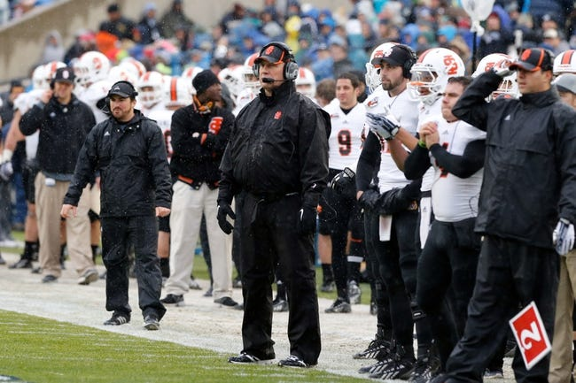 Nov 16, 2013; Provo, UT, USA; Idaho State Bengals head coach Mike Kramer watches his team during the first quarter in the game against the Brigham Young Cougars at Lavell Edwards Stadium. Mandatory Credit: Chris Nicoll-USA TODAY Sports