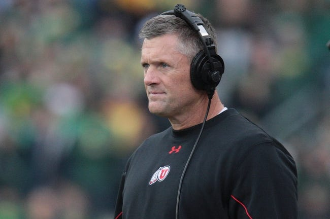 Nov 16, 2013; Eugene, OR, USA; Utah Utes head coach Kyle Whittingham stands on the field against the Oregon Ducks at Autzen Stadium. The Ducks won 44-21. Mandatory Credit: Scott Olmos-USA TODAY Sports