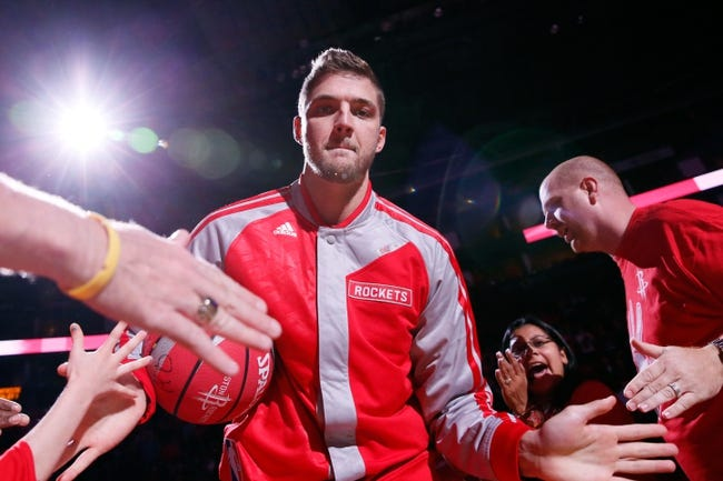 Nov 16, 2013; Houston, TX, USA; Houston Rockets forward Chandler Parsons (25) enters the court before the game against the Denver Nuggets at Toyota Center. Mandatory Credit: Soobum Im-USA TODAY Sports