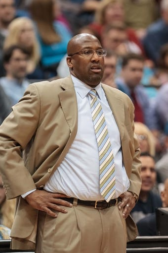 Nov 13, 2013; Minneapolis, MN, USA; Cleveland Cavaliers head coach Mike Brown in the second quarter against the Minnesota Timberwolves at Target Center. The Minnesota Timberwolves win 124-95. Mandatory Credit: Brad Rempel-USA TODAY Sports.