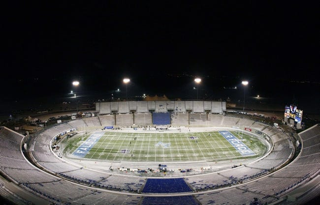 Nov 21, 2013; Colorado Springs, CO, USA;  A general view of Falcon Stadium before the start of the game between the UNLV Rebels and the Air Force Falcons. Mandatory Credit: Isaiah J. Downing-USA TODAY Sports