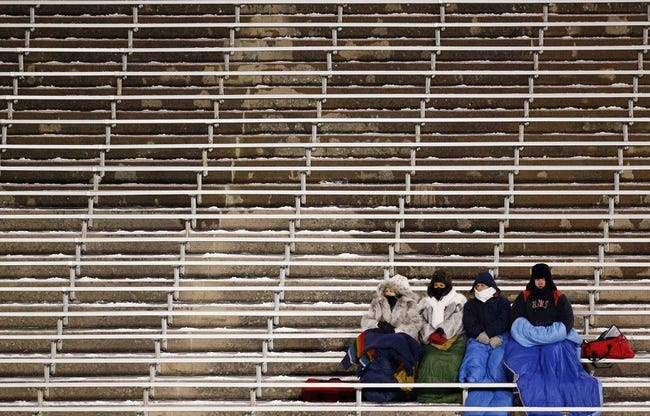 Nov 21, 2013; Colorado Springs, CO, USA; UNLV Rebels fans watch from the stands in the fourth quarter against the Air Force Falcons at Falcon Stadium. Mandatory Credit: Isaiah J. Downing-USA TODAY Sports