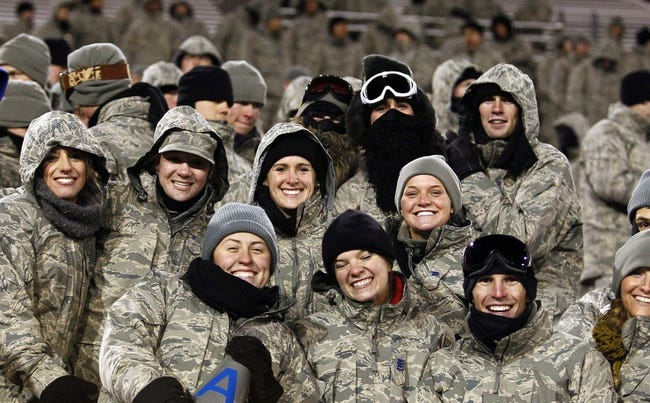Nov 21, 2013; Colorado Springs, CO, USA; Air Force Falcons fans in the fourth quarter against the UNLV Rebels at Falcon Stadium. The Rebels won 41-21. Mandatory Credit: Isaiah J. Downing-USA TODAY Sports