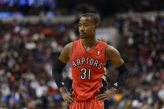Nov 20, 2013; Philadelphia, PA, USA; Toronto Raptors guard Terrence Ross (31) during the third quarter against the Philadelphia 76ers at Wells Fargo Center. The Raptors defeated the Sixers 108-98. Mandatory Credit: Howard Smith-USA TODAY Sports
