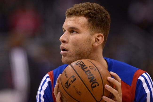 Nov 23, 2013; Los Angeles, CA, USA; Los Angeles Clippers forward Blake Griffin (32) warms up prior to the game against the Sacramento Kings at Staples Center. Mandatory Credit: Kelvin Kuo-USA TODAY Sports
