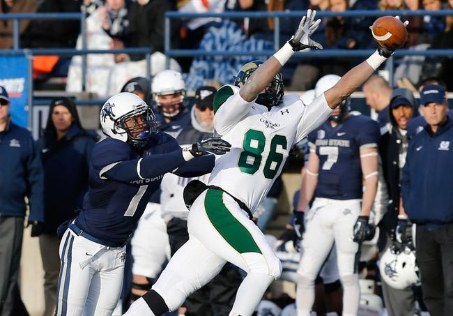 Nov 23, 2013; Logan, UT, USA; Colorado State Rams tight end Kivon Cartwright (86) makes a one-handed catch during the third quarter against the Utah State Aggies at Romney Stadium. Utah State Aggies won 13-0. Mandatory Credit: Chris Nicoll-USA TODAY Sports