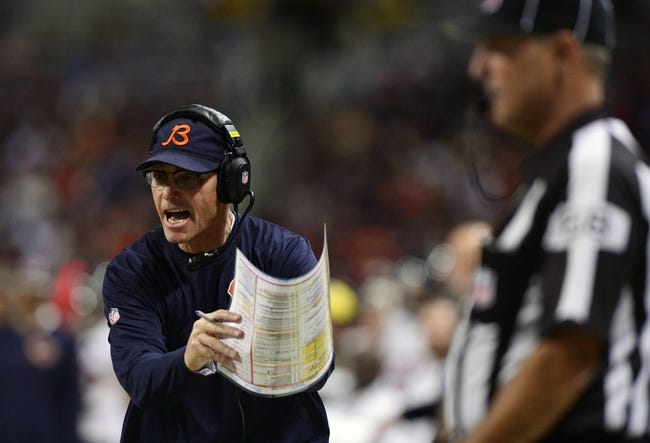 Nov 24, 2013; St. Louis, MO, USA; Chicago Bears head coach Marc Trestman calls a time out during the second half against the St. Louis Rams at the Edward Jones Dome. St. Louis defeated Chicago 42-21. Mandatory Credit: Jeff Curry-USA TODAY Sports