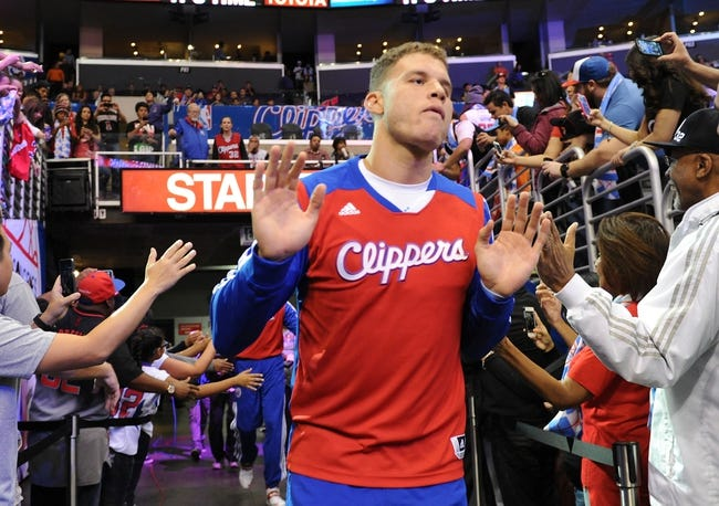 Nov 24, 2013; Los Angeles, CA, USA;  Los Angeles Clippers power forward Blake Griffin (32) takes the court for the game against the Chicago Bulls at Staples Center. Clippers won 121-82. Mandatory Credit: Jayne Kamin-Oncea-USA TODAY Sports