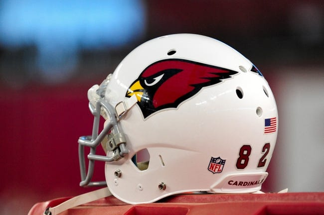 Nov 24, 2013; Phoenix, AZ, USA; General view of an Arizona Cardinals helmet during the second half against the Indianapolis Colts at University of Phoenix Stadium. Mandatory Credit: Matt Kartozian-USA TODAY Sports