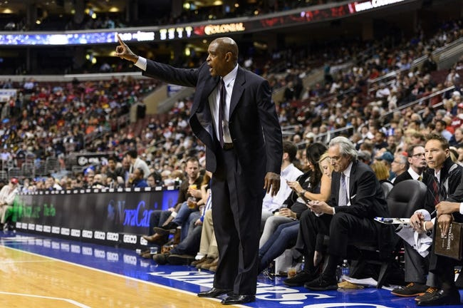 Nov 22, 2013; Philadelphia, PA, USA; Milwaukee Bucks head coach Larry Drew during the fourth quarter against the Philadelphia 76ers at Wells Fargo Center. The Sixers defeated the Bucks 115-107 in overtime. Mandatory Credit: Howard Smith-USA TODAY Sports