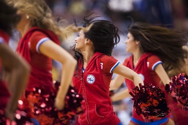 Nov 22, 2013; Philadelphia, PA, USA; Philadelphia 76ers dream team dancers perform during the fourth quarter against the Milwaukee Bucks at Wells Fargo Center. The Sixers defeated the Bucks 115-107 in overtime. Mandatory Credit: Howard Smith-USA TODAY Sports