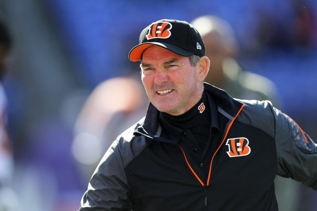 Nov 10, 2013; Baltimore, MD, USA;  Cincinnati Bengals coach Mike Zimmer prior to the game against the Baltimore Ravens at M&T Bank Stadium. Mandatory Credit: Mitch Stringer-USA TODAY Sports