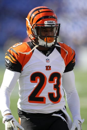 Nov 10, 2013; Baltimore, MD, USA;  Cincinnati Bengals cornerback Terrence Newman (23) warms up prior to the game against the Baltimore Ravens at M&T Bank Stadium. Mandatory Credit: Mitch Stringer-USA TODAY Sports