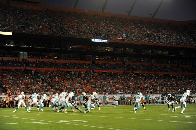 Nov 17, 2013; Miami Gardens, FL, USA; A general view of game action between the San Diego Chargers and Miami Dolphins at Sun Life Stadium. The Dolphins won the game 20-16. Mandatory Credit: Joe Camporeale-USA TODAY Sports