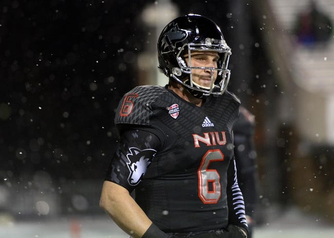 Nov 26, 2013; DeKalb, IL, USA; Northern Illinois Huskies quarterback Jordan Lynch (6) practices before the game against the Western Michigan Broncos at Huskie Stadium. Mandatory Credit: Mike DiNovo-USA TODAY Sports