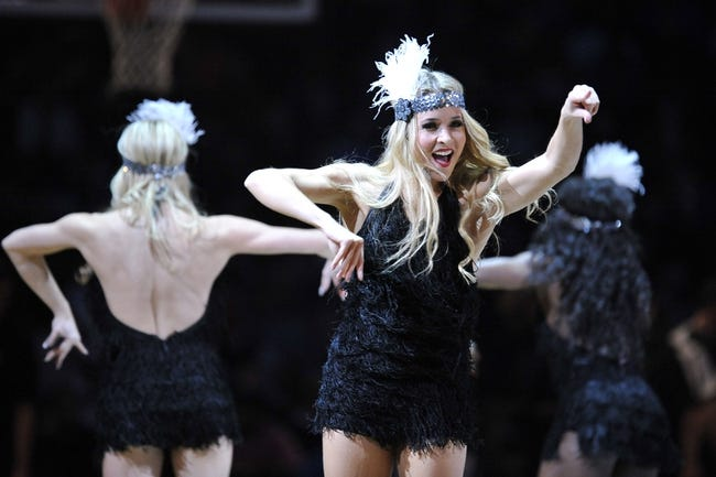 Nov 27, 2013; Brooklyn, NY, USA; The Brooklyn Nets dancers The Brooklynettes perform against the Los Angeles Lakers during the first half at Barclays Center. The Lakers won 99-94. Mandatory Credit: Joe Camporeale-USA TODAY Sports