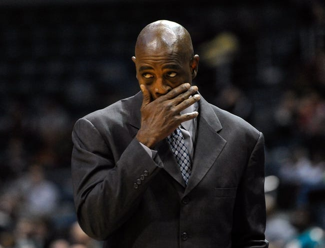 Nov 27, 2013; Milwaukee, WI, USA;   Milwaukee Bucks head coach Larry Drew watches game against the Washington Wizards in the forth quarter at BMO Harris Bradley Center. Mandatory Credit: Benny Sieu-USA TODAY Sports