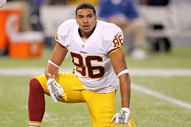 Nov 7, 2013; Minneapolis, MN, USA; Washington Redskins tight end Jordan Reed (86) against the Minnesota Vikings at Mall of America Field at H.H.H. Metrodome. The Vikings defeated the Redskins 34-27. Mandatory Credit: Brace Hemmelgarn-USA TODAY Sports