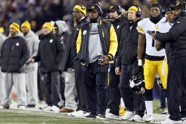 Nov 28, 2013; Baltimore, MD, USA; Pittsburgh Steelers head coach Mike Tomlin watches from the sideline against the Baltimore Ravens on Thanksgiving at M&T Bank Stadium. Mandatory Credit: Mitch Stringer-USA TODAY Sports