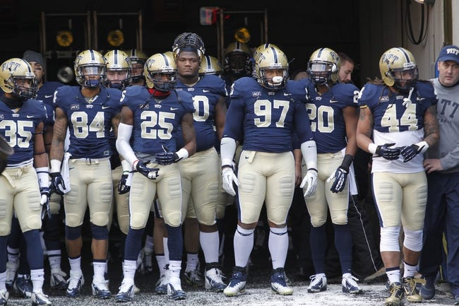 Nov 29, 2013; Pittsburgh, PA, USA; Pittsburgh Panthers senior class waits to take the field for their final home game against the Miami Hurricanes during the first quarter at Heinz Field. Miami won 41-31. Mandatory Credit: Charles LeClaire-USA TODAY Sports